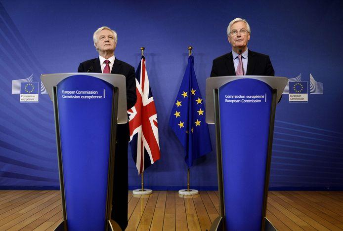 David Davis en Michel Barnier.