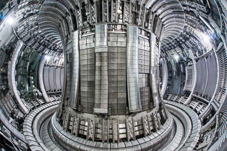 De plasmakamer van de internationale fusieractor Iter in het Britse Culham. Naar verwachting wordt deze testreactor in 2025 in gebruik genomen Beeld Eurofusion