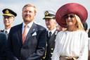 Koning Willem Alexander en Koningin Maxima tijdens de viering van 75 jaar vrijheid in Zeeland.