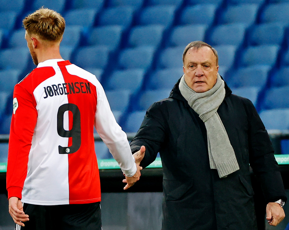 Nicolai Jørgensen en Dick Advocaat.