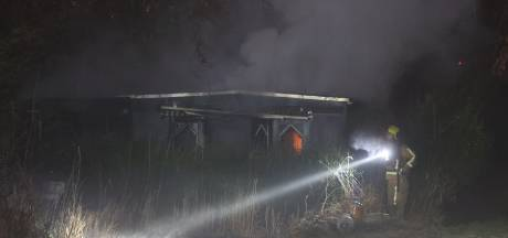 Brand in tuinhuisje, meerdere eenheden komen helpen