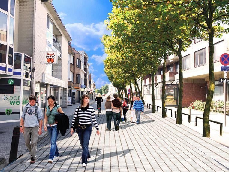 Zo moet de Ekerse Dorpstraat er in de toekomst gaan uitzien.