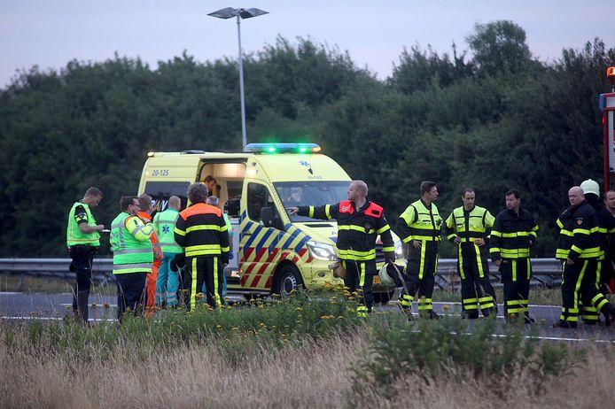 Vrouw uit Halderberge overleden bij eenzijdig ongeluk op A58
