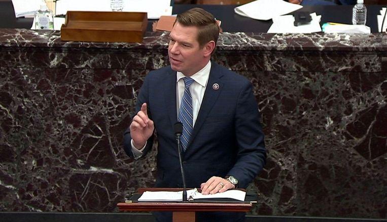Eric Swalwell. Beeld U.S. Senate TV via REUTERS