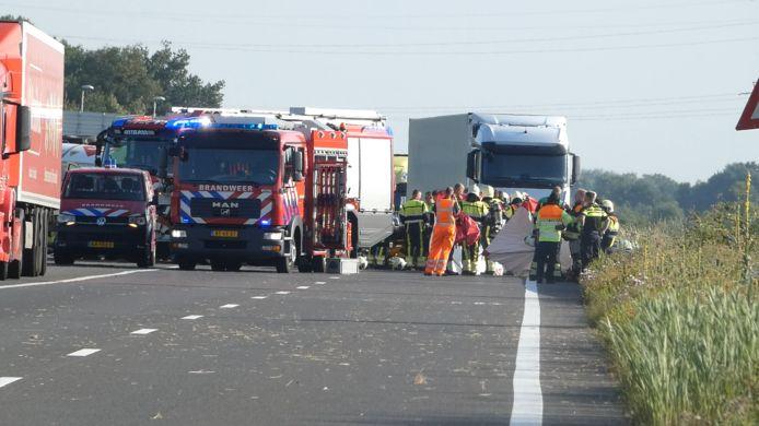 Stremming door ongeval op de A50 bij Paalgraven.