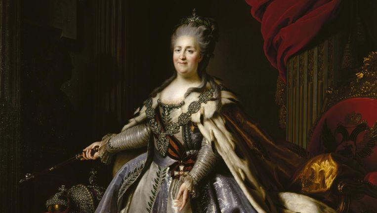 Portret van Catharina de Grote uit de Hermitage in Sint-Petersburg. Beeld Hermitage Sint-Petersburg