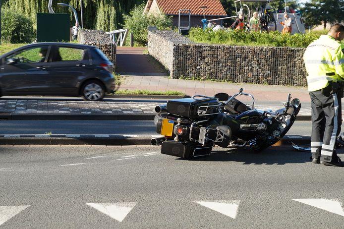 Ongeluk met motor in Waalwijk.