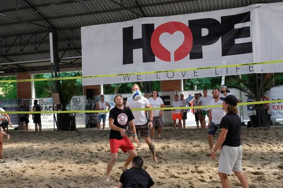 Op de Hope Benefiet was ook een volleybaltornooi.
