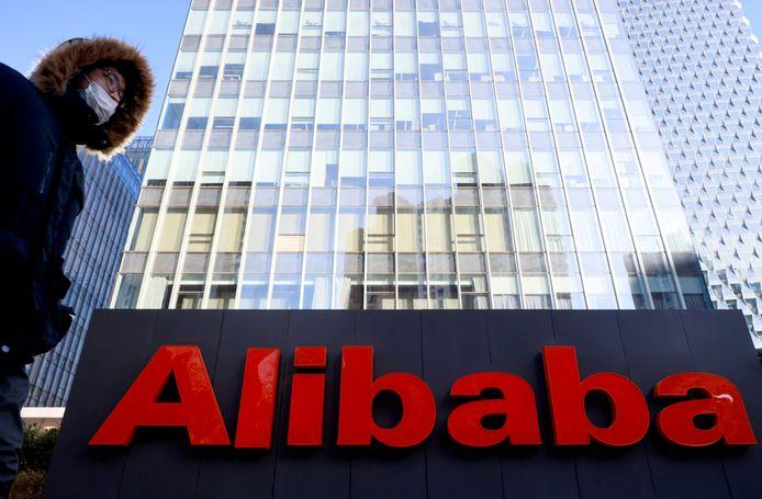 Een kantoor van de technologiereus Alibaba in Peking, China.