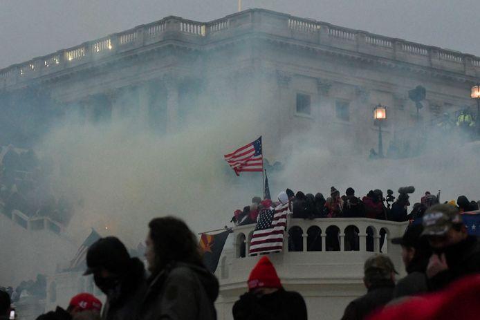 De bestorming van het Capitool in Washington, op 6 januari. Drie weken geleden alweer.