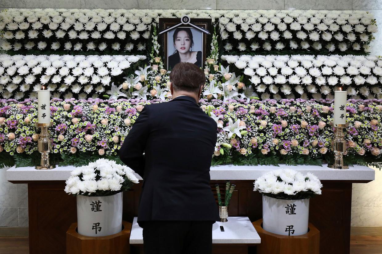K-popster Goo Hara werd twee weekends geleden dood aangetroffen in haar appartement in Seoel. Beeld AP