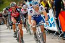 Hutième dès sa deuxième participation (ici, dans la roue de Philippe Gilbert, en 2008) Greg Van Avermaet a souvent flirté avec la victoire, mais n'a jamais su conclure sur le Tour des Flandres.