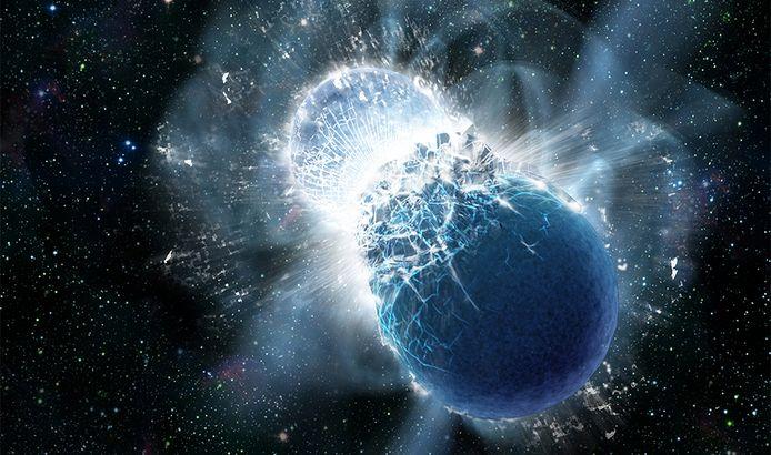Een grafische weergave van een kilonova