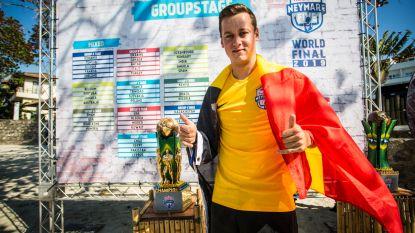 Oostendenaar Martijn Debbaut flitst op spectaculair voetbaltornooi van ster Neymar