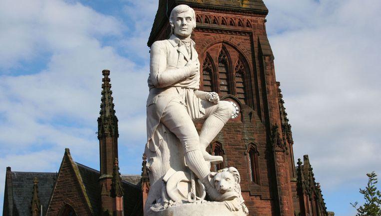 Beeld van de Schotse dichter des vaderlands, Robert Burns, in Dumfries. Beeld Ron Waller