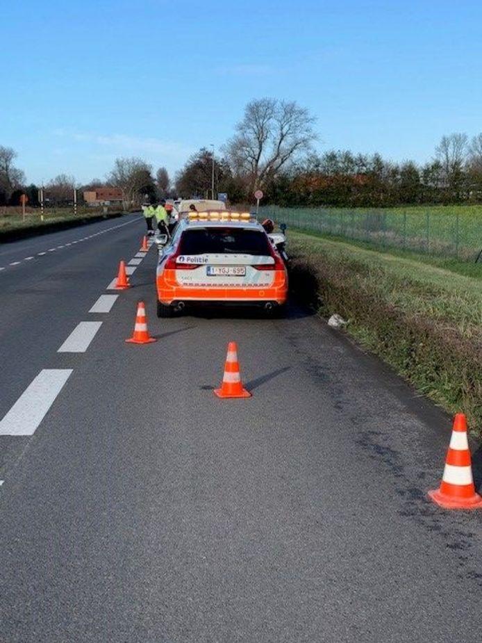 De controle van de Vlaamse Belastingdienst (VLABEL) en de politie Westkust.