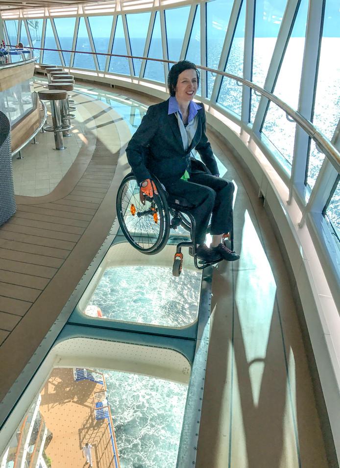 Op cruise met de rolstoel.