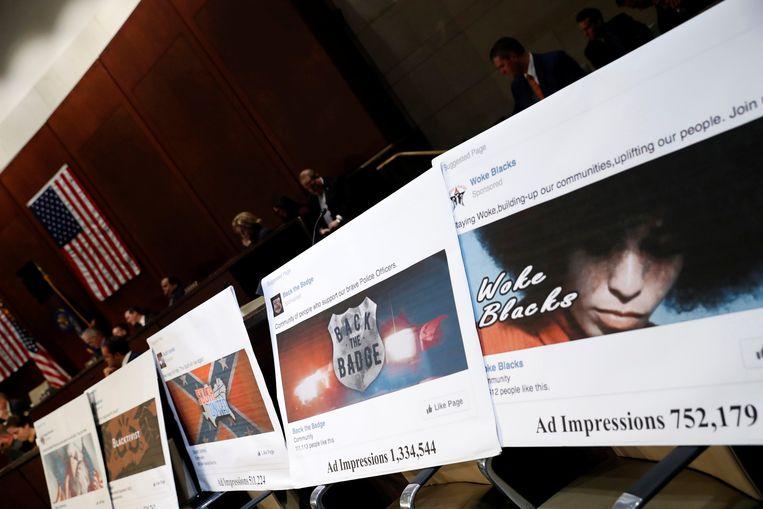 Voorbeelden van 'fake news'-advertenties die tijdens de Amerikaanse verkiezingscampagne opdoken.