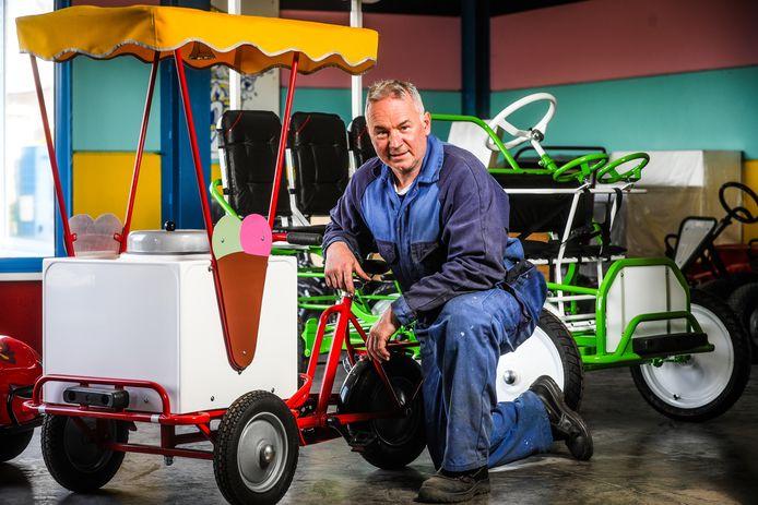 Carl Gies van T&T Quality Go-Carts verkoopt wereldwijd zijn volledig met de hand gemaakte voertuigen