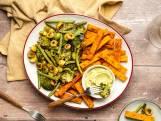 Wat Eten We Vandaag: Polentafriet met gegrilde groenten en guacamole