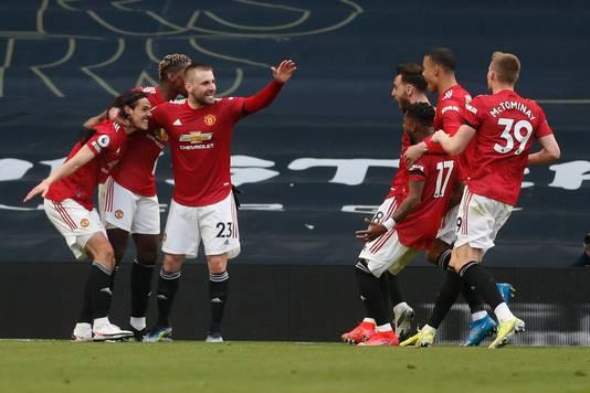 Manchester United viert de 1-2.