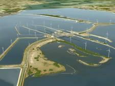 Vliegtuig test radar van windpark Krammer