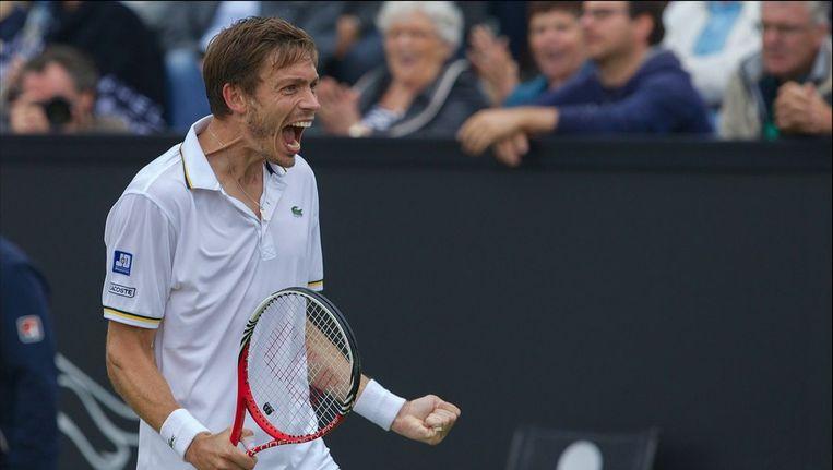 Nicolas Mahut schreeuwt het uit. Beeld PHOTO_NEWS
