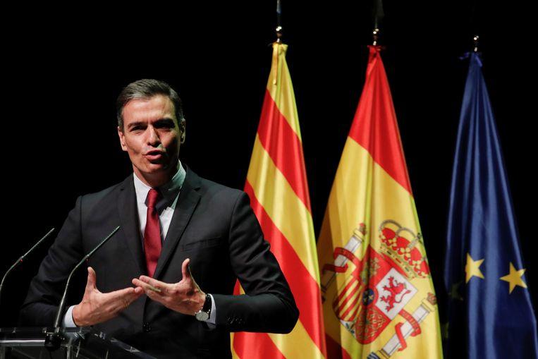 De Spaanse premier Pedro Sánchez.  Beeld REUTERS