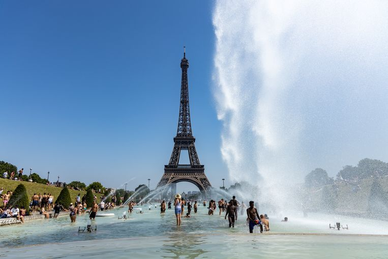Parijs tijdens de hittegolf vorige zomer. Beeld iStock