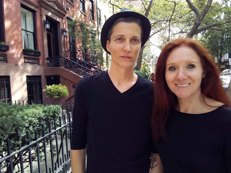 Julian P. Boom (l.) en Fleur Pierets in New York, zomer 2017, vlak voor de start van Project22.
