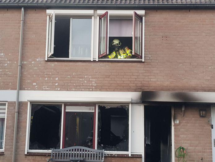 In een woning aan de Vitelliuslaan in Beuningen heeft korte tijd brand gewoed.