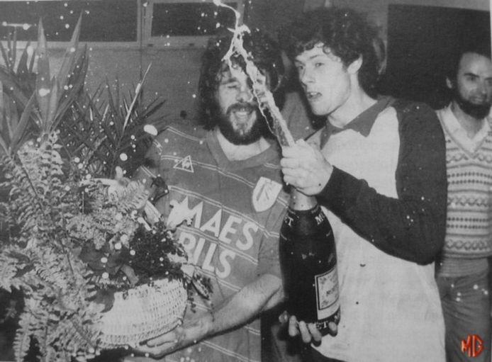 Eric Gerets en Michel Preud'homme vieren de titel in 1982.