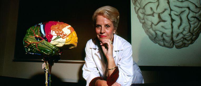 Marian Diamond in 1984, toen ze als professor in de anatomie was verbonden aan de Universiteit van Californië - Berkeley.  Beeld rv