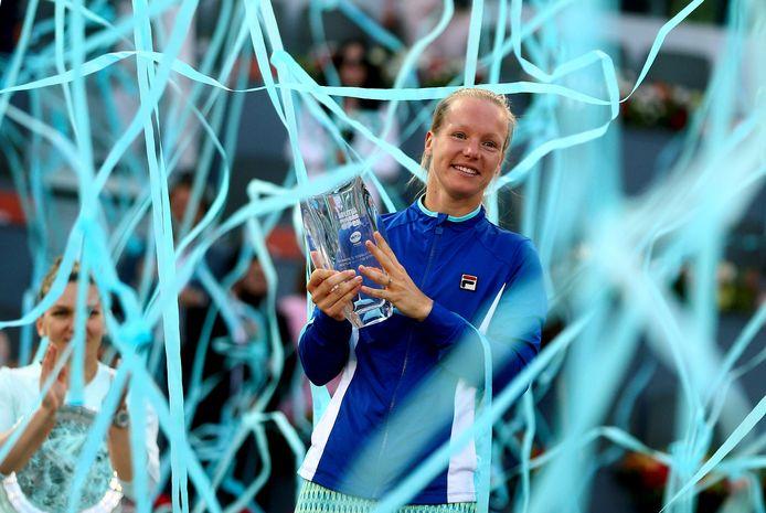Kiki Bertens wint in Madrid.