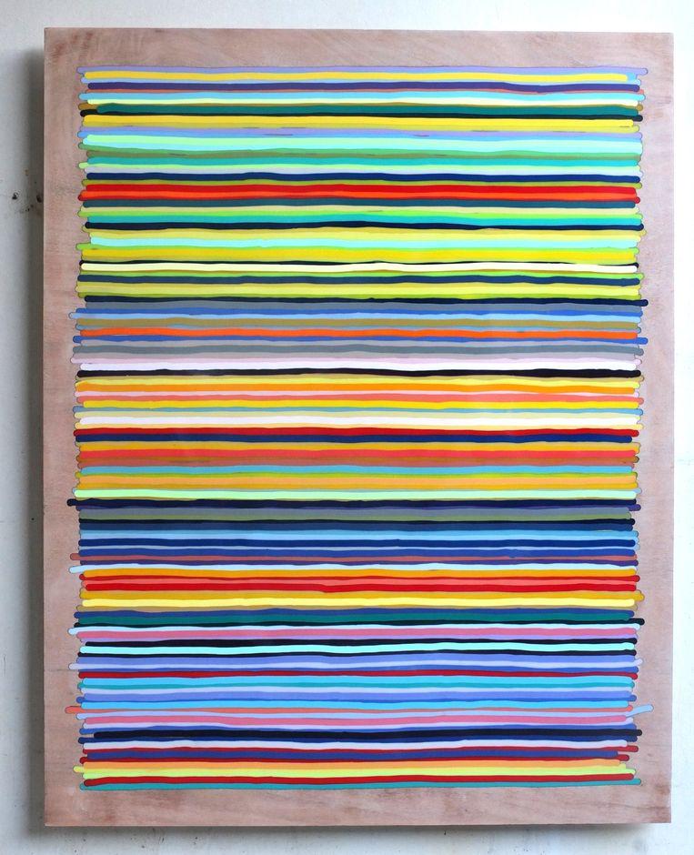 Daan den Houter - Stripes #022182 (2018). Beeld Frank Taal Galerie