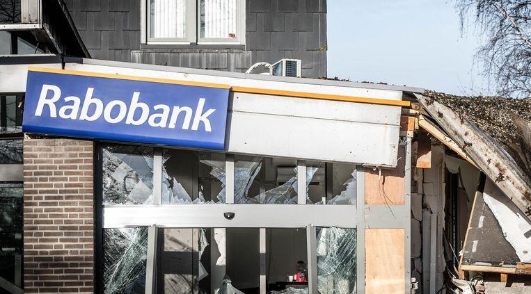 Een jaar geleden was de Rabobank in Vinkel, Brabant, doelwit van een plofkraak. Beeld Robe Engelaar/ANP