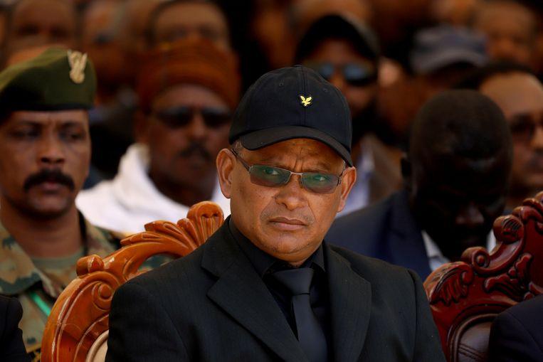 De leider van Tigray, Debretsion Gebremichael vorig jaar zomer.  Beeld Reuters