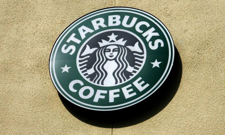 Het Starbucks-logo tot 2011.