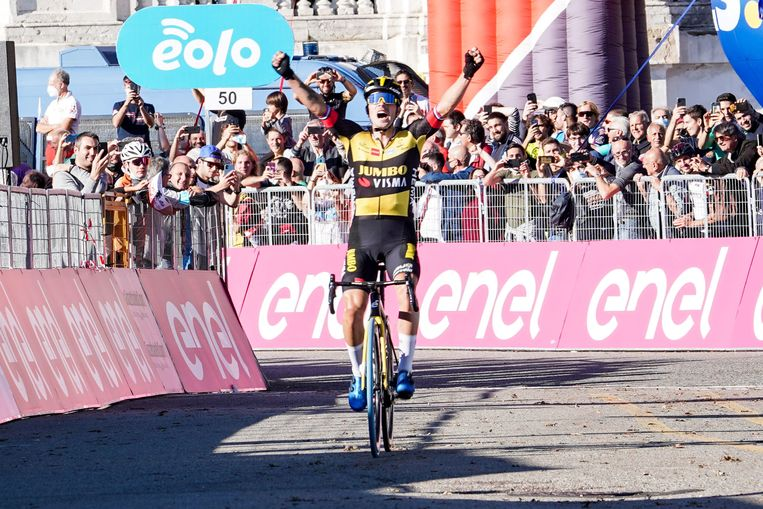 Primoz Roglic wint Milaan-Turijn. Beeld EPA