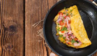 Vegetarische omelet uit India