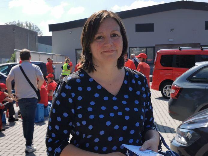 Iris Vancutsem, vakbondsafgevaardigde VSOA.