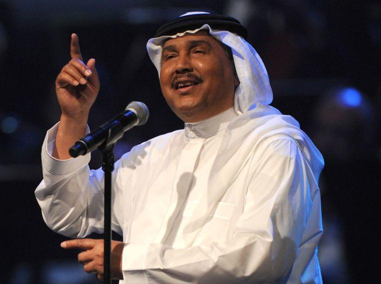Mohammed Abdo, tijdens zijn concert in Jeddah. Beeld AFP