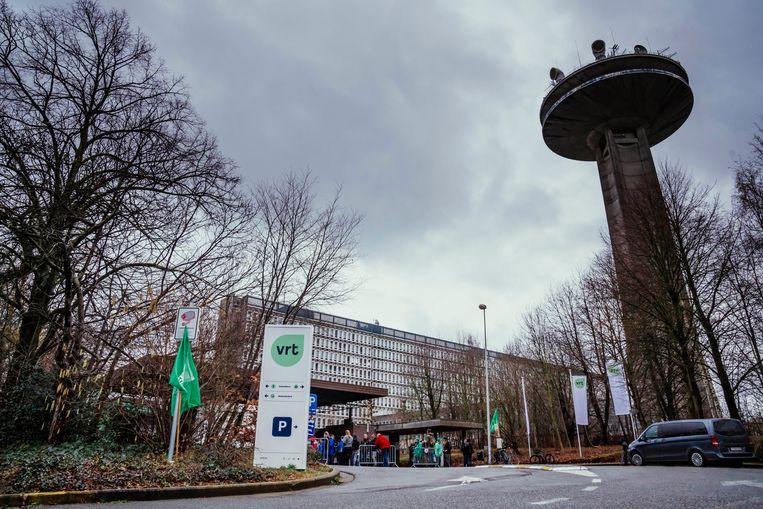 De VRT-gebouwen in Brussel Beeld Stefaan Temmerman