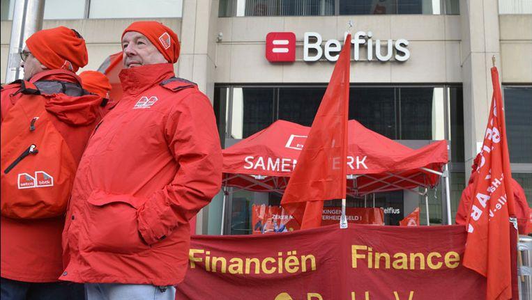 De voorbije maanden waren er al verschillende protestacties van de twee bonden. Beeld PHOTO_NEWS