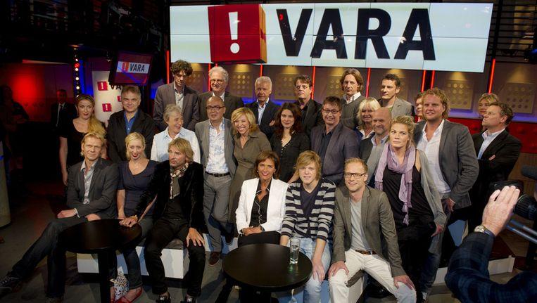 De presentatoren van de VARA voorafgaand aan het vorige televisieseizoen. Beeld ANP