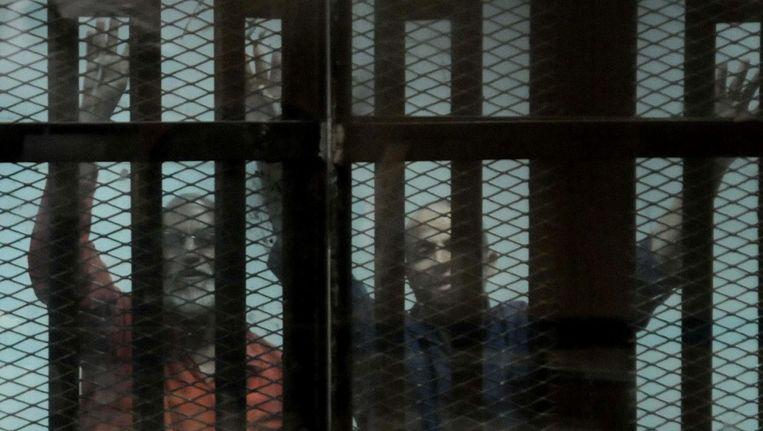 Leden van de Moslimbroederschap in de gevangenis in Cairo. Beeld anp