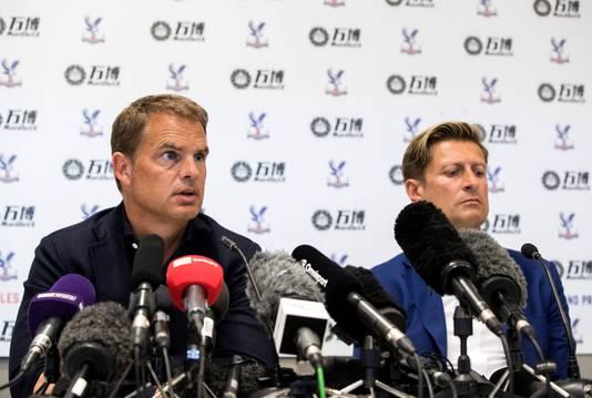 Frank de Boer naast Steve Parish tijdens zijn aanstelling.