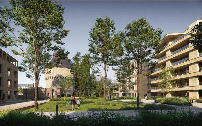 Een toekomstbeeld van het nieuw stadspark De Paulientjes