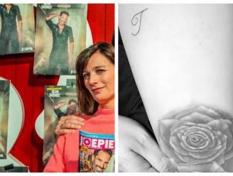 SHOWBITS. Birgit Van Mol is fan van Sean Dhondt en van wie is deze tatoeage?