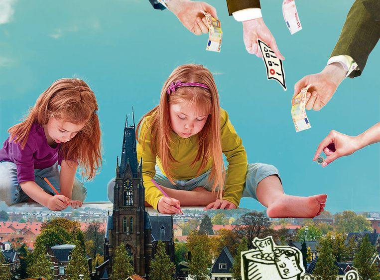 Een op de negen kinderen in Nederland groeit op in armoede. Beeld Fadi Nadrous